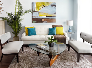 how to hang artwork in living room