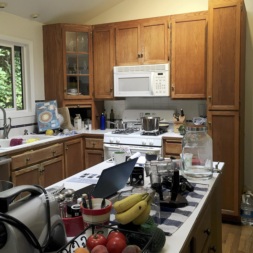 Kitchen redesign: view of the island