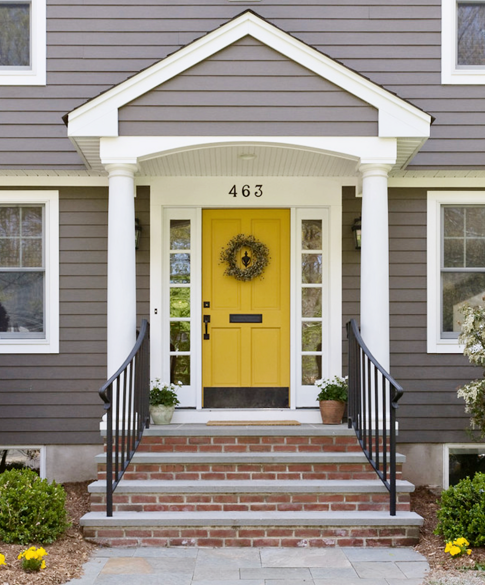 yellow exterior door paint ideas