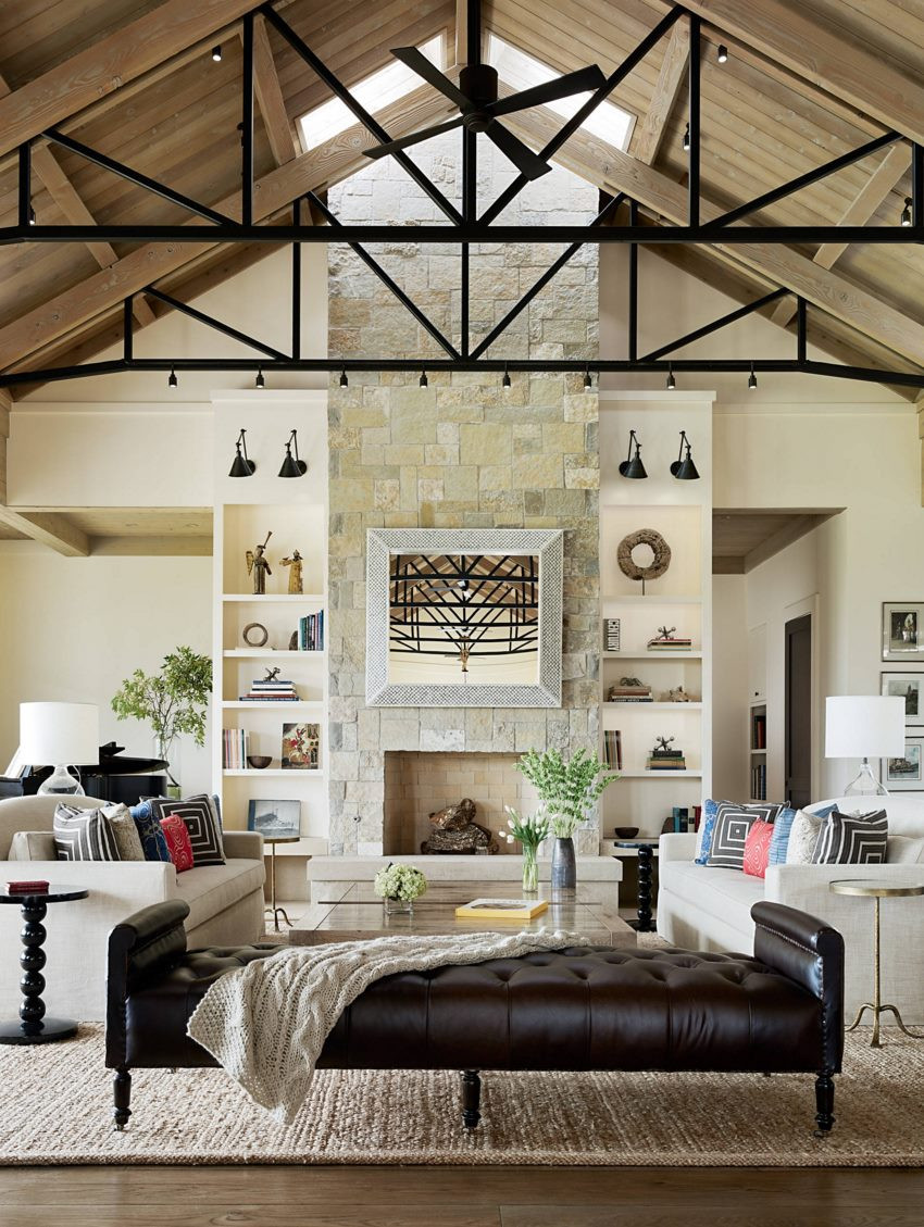 living room ceiling rafters