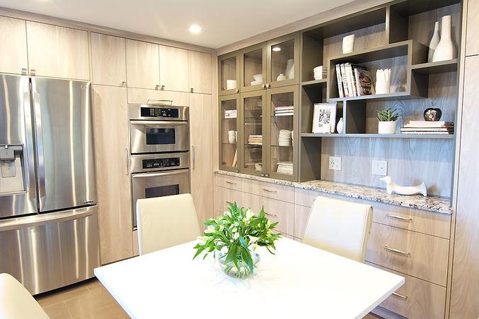 built in kitchen storage