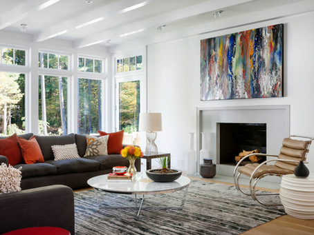 OVER THE FIREPLACE: How to hang your art series