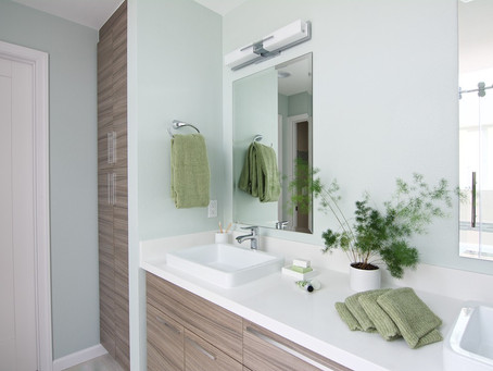 MASTER BATHROOM REDESIGN: before and after