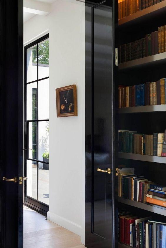 black gloss painted doors