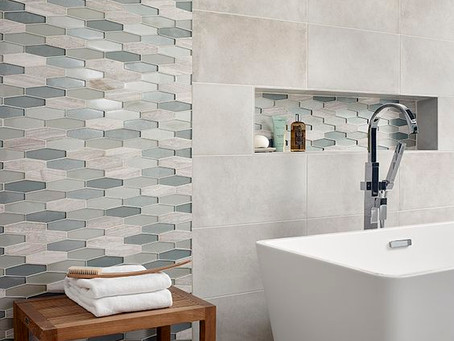 TO PATTERN OR NOT TO PATTERN: bathroom tile pattern ideas we like