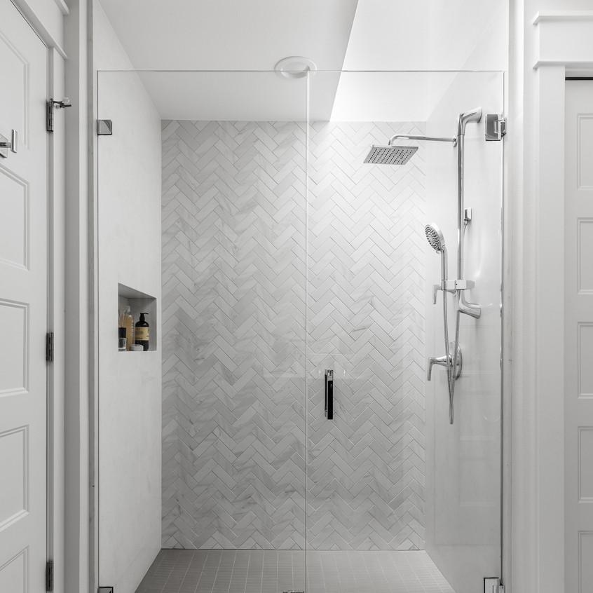 Master bathroom shower: after