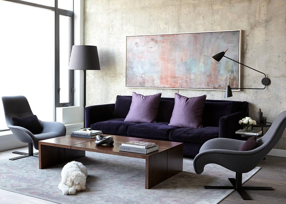 purple interior ideas