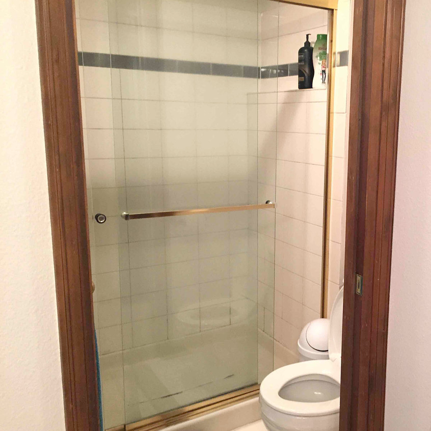 Old master bathroom shower
