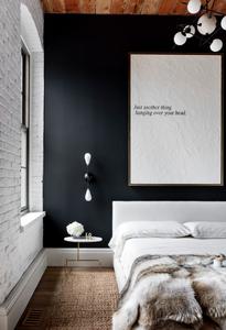 dark bedroom accent wall