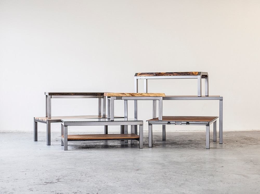 modern metal and wood furniture