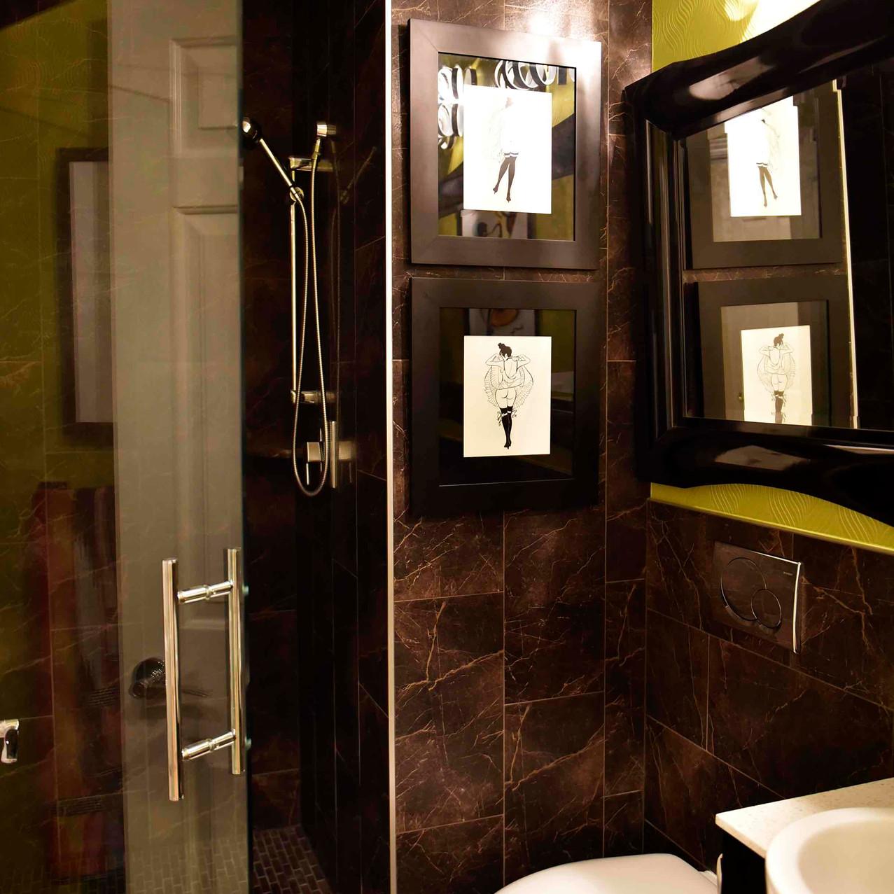 Powder bathroom redesign project