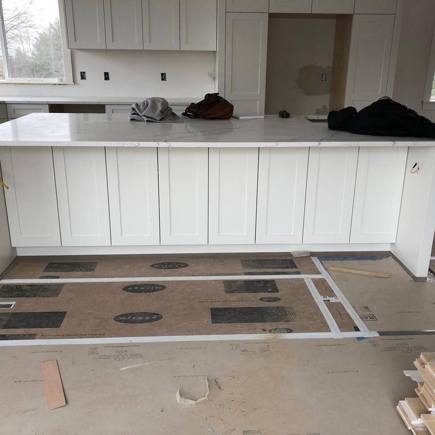 Kitchen island: work in progress