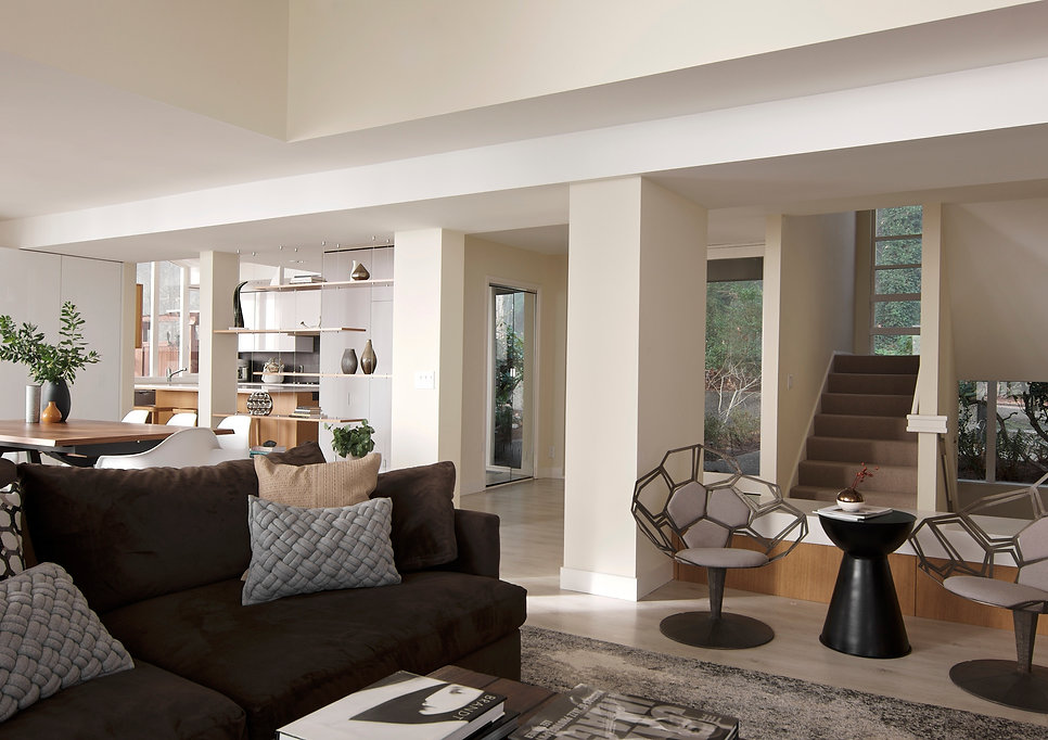 contemporary living and dining room design