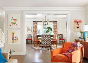kandinsky inspired living room