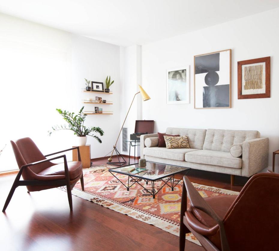 midcentury modern living room decor