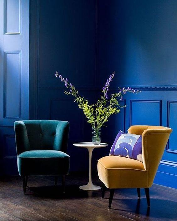 cobalt blue interior