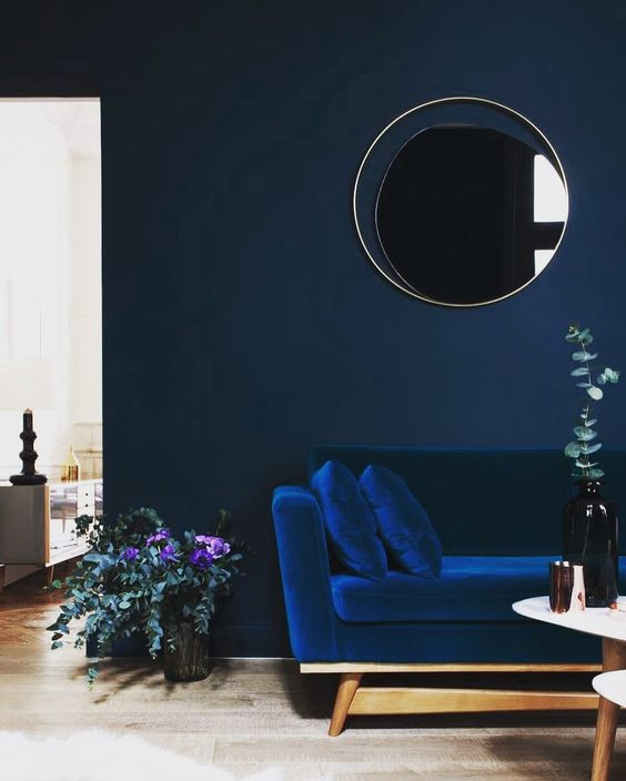 home color trends 2017: navy blue