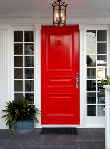 red exterior door ideas