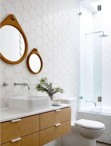 hexagon bathroom tile ideas