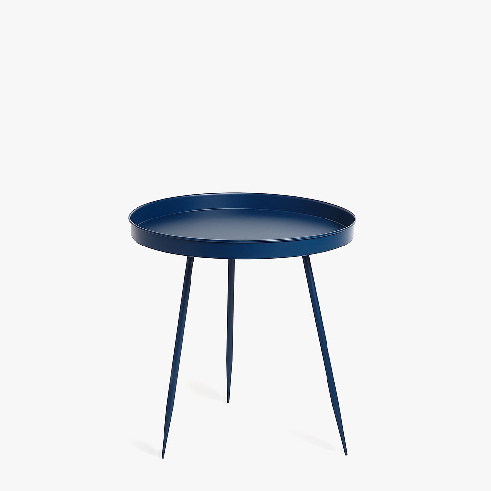 dark blue side table