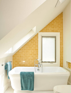 yellow accent tile ideas