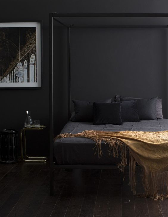 dark and moody bedroom