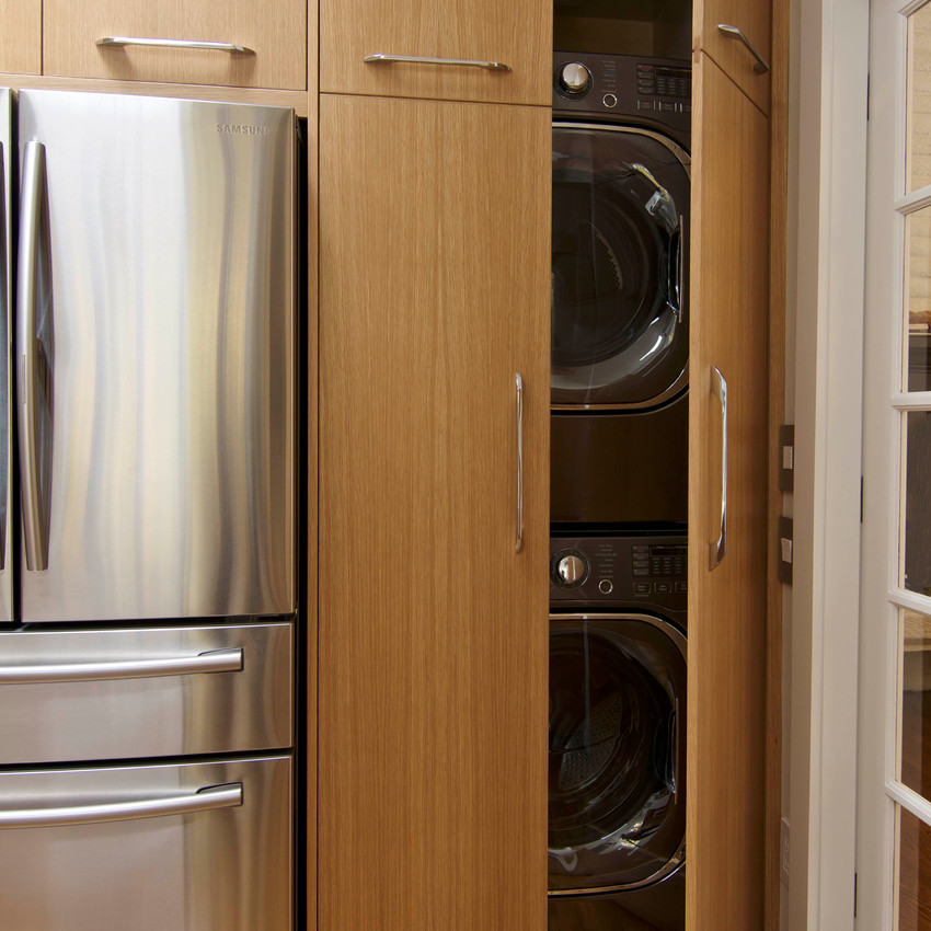 After: hidden washer & dryer