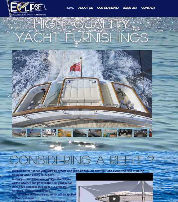 Career Eclipse Yacht Canvas Refit Cushions Covers Awnings