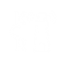 Small logo, the letters KCR to the left of cartoon lighthouse with sound waves coming off it.
