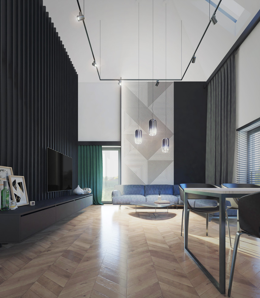 Wnętrze - salon dwukondygnacyjny II
