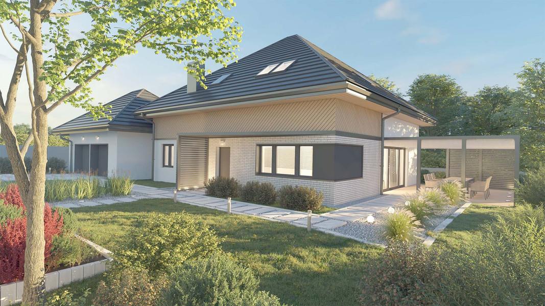 Dom jednorodzinny z garażem dwustanowiskowym