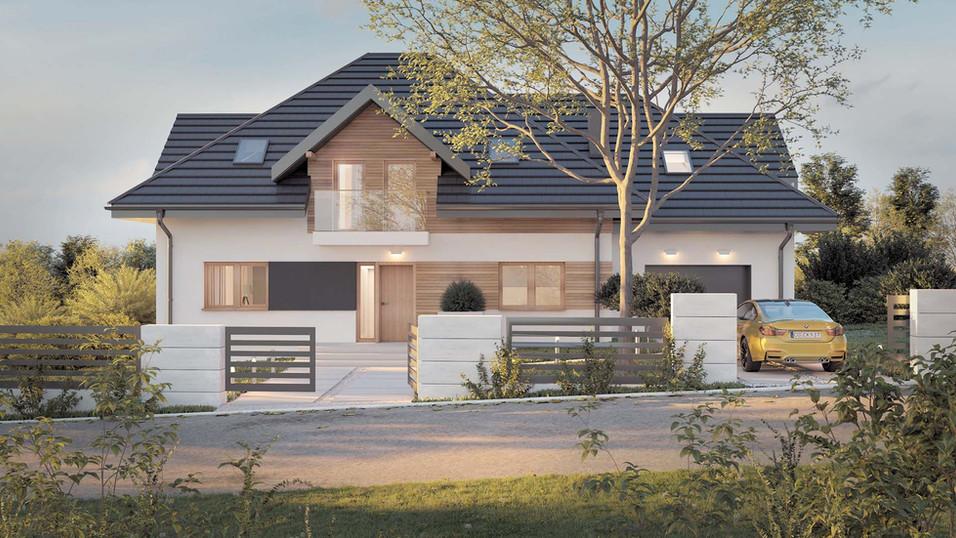 Dom jednorodzinny z garażem