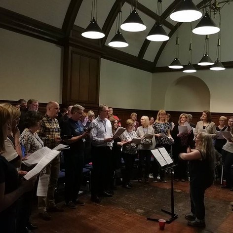 Rehesaring with the Glasgow region of Scottish Police and Community Choir
