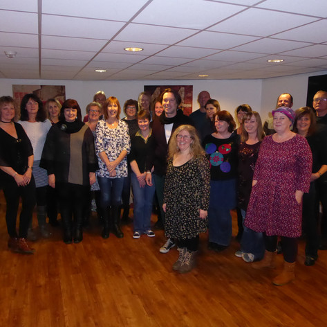 Craigie Choir with Rufus Wainright after singing him mu arrangement of Beautiful Child