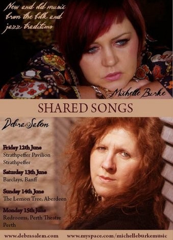 Poster for Shared Songs - a tour undertaken with Irish singer Michelle Burke