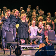 With Southern Fried Voices at the end of the Blue Rose Code and Bevy Sisters gig
