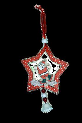 Etoile Père Noël bois