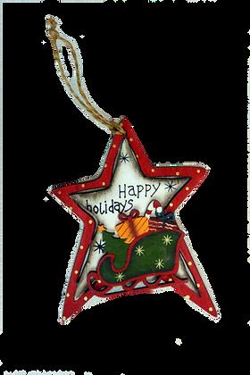 Etoile happy holidays bois