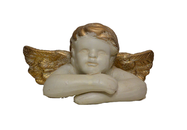 Figurine ange couché