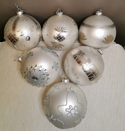 Lot de 6 boules de Noël