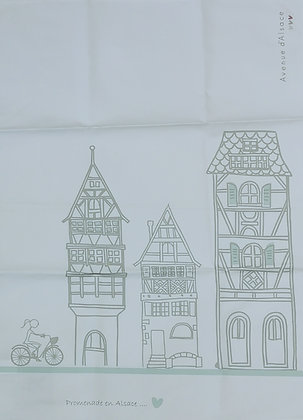Torchon maison alsacienne