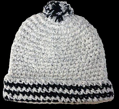 Bonnet ponpon blanc