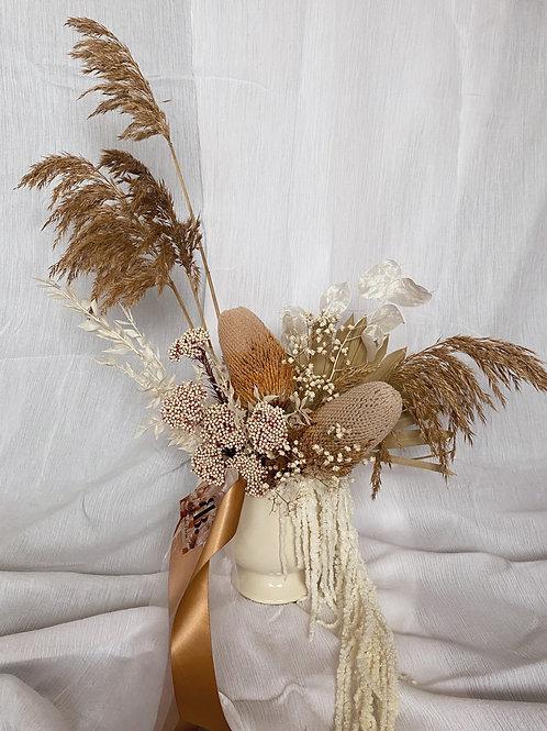 Dried Vase Arrangement- Neutral and Native