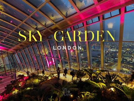 รีวิว Sky Garden ชมวิวมุมสูงจากสวนลอยฟ้าที่สูงที่สุดใน London