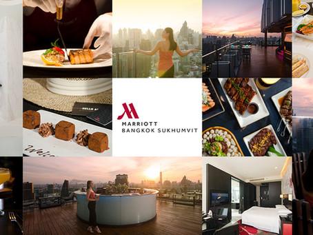 [รีวิว] Bangkok Marriott Hotel Sukhumvit ห้องสวย รูฟท็อปบาร์เริด ที่โรงแรมแมริออท กรุงเทพฯ สุขุมวิท