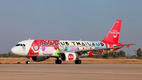 """ททท. และแอร์เอเชีย เปิดตัวเครื่องบินลาย """"Thai Culture ... อยากชวนเธอไปเที่ยวไง"""""""