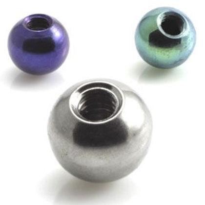 25 x Ti Micro Plain Screw Ball - 1.2mm