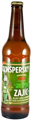 """Пиво """" Kynšperský Zajíc"""" Зеленое специальное"""