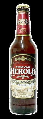 """Пиво """"Herold"""" Богемский гранатовый лагер"""