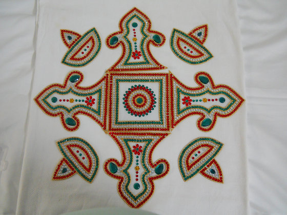 Green rangoli - XL
